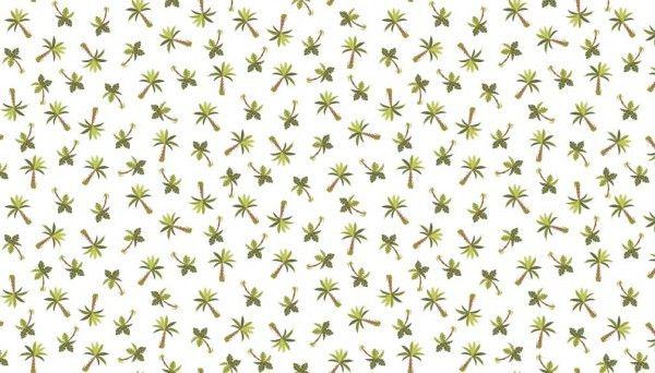 Makower - Rex - No. 1898/Q Palm Trees Cream