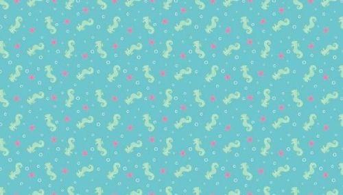 Makower - Merryn - 2003/B Seahorses Blue