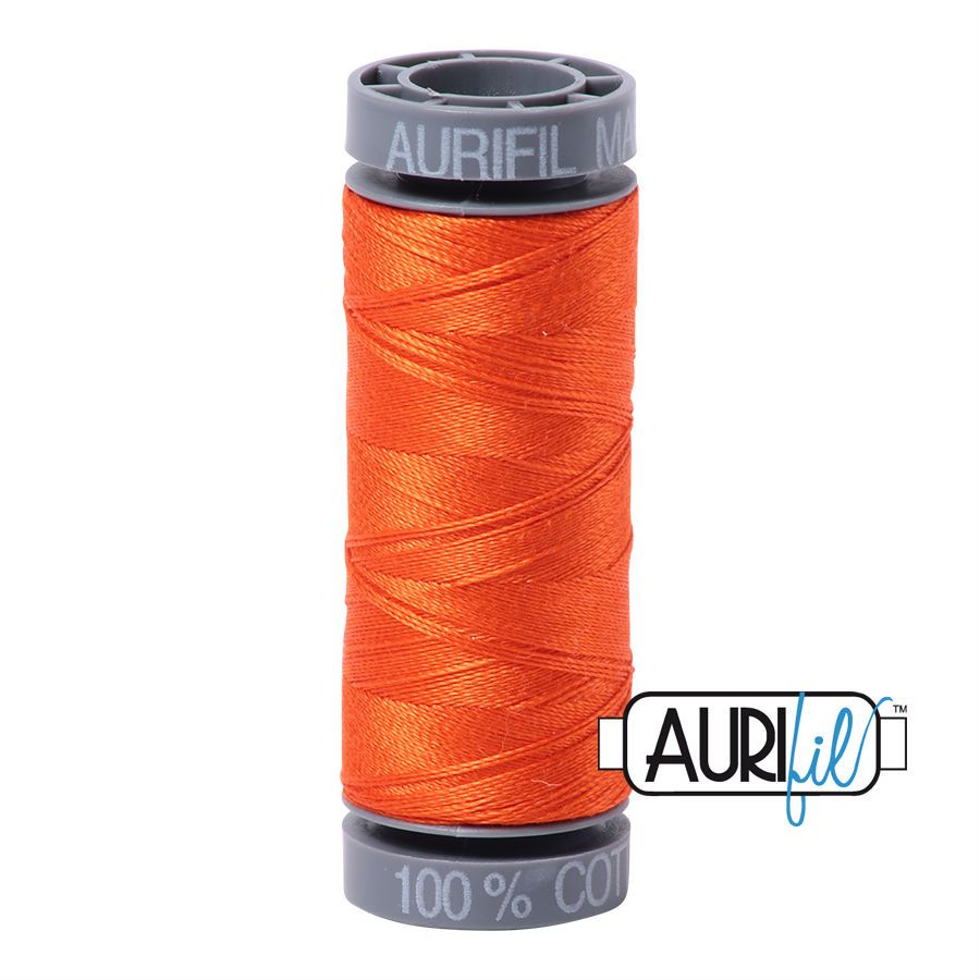 Aurifil Cotton 28wt, 1104 Neon Orange