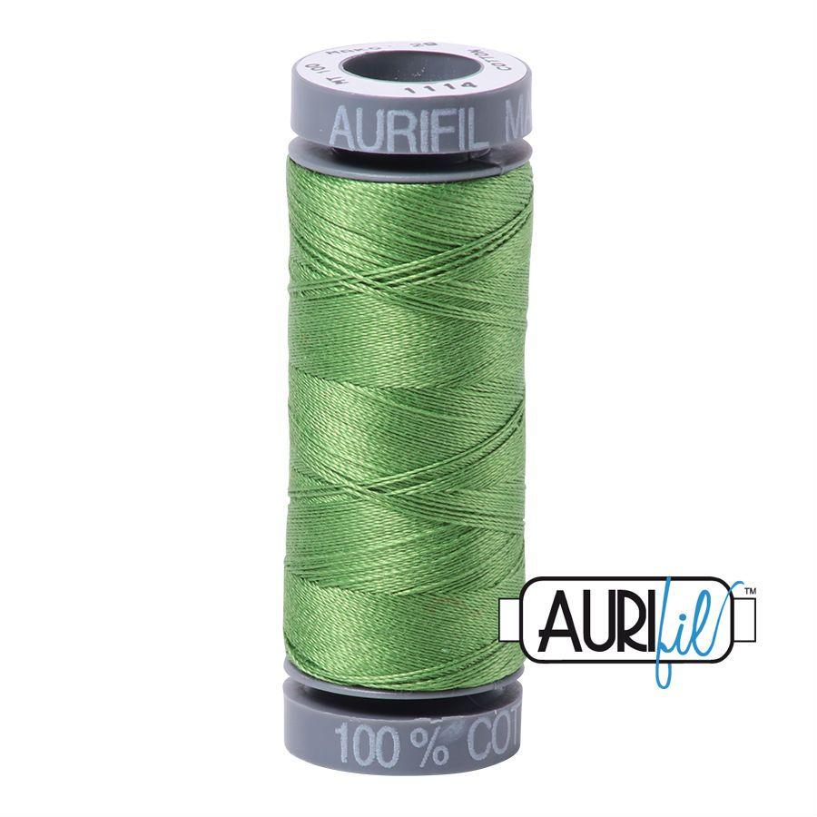 Aurifil Cotton 28wt, 1114 Grass Green