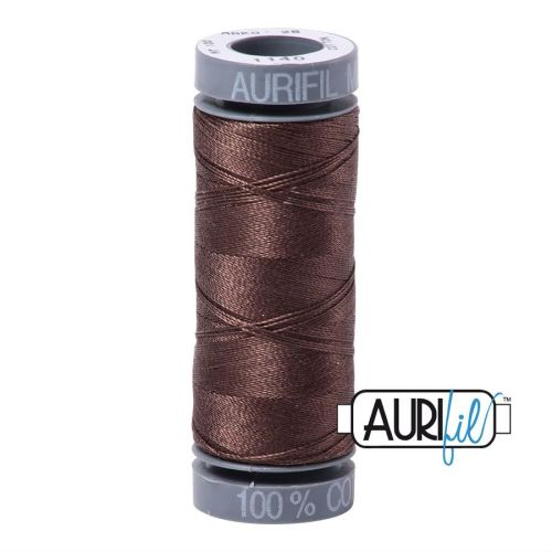 Aurifil Cotton 28wt, 1140 Very Dark Bark