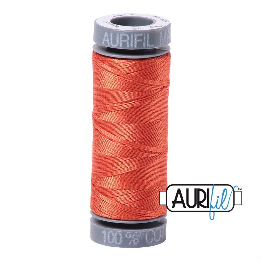 Aurifil Cotton 28wt, 1154 Dusty Orange
