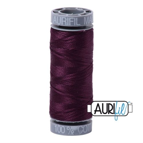 Aurifil Cotton 28wt, 1240 Very Dark Eggplant