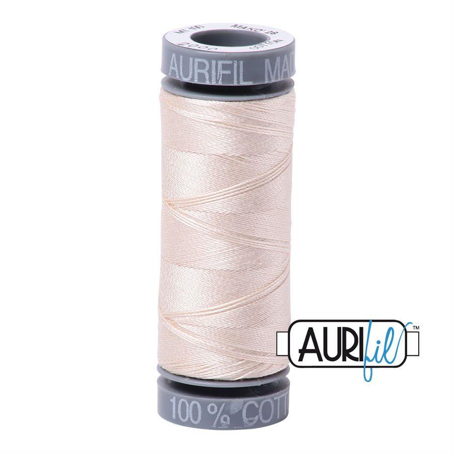 Aurifil Cotton 28wt, 2000 Light Sand