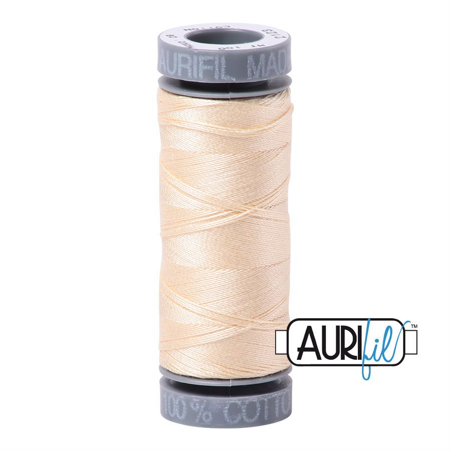 Aurifil Cotton 28wt, 2123 Butter