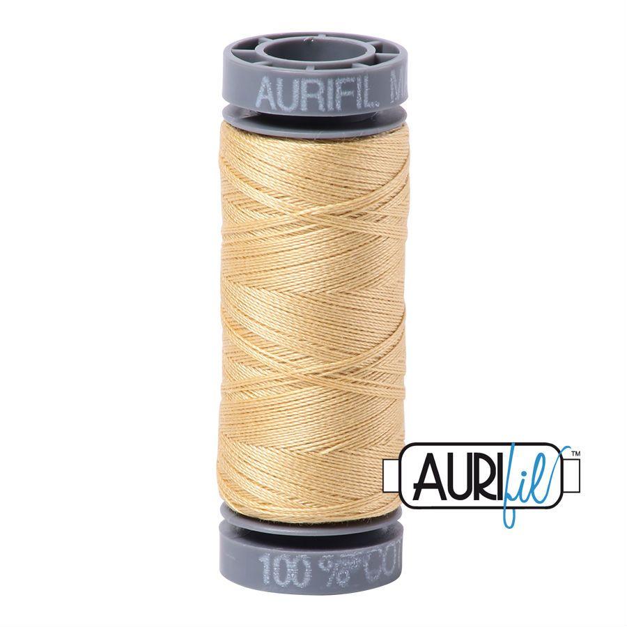 Aurifil Cotton 28wt, 2125 Butter