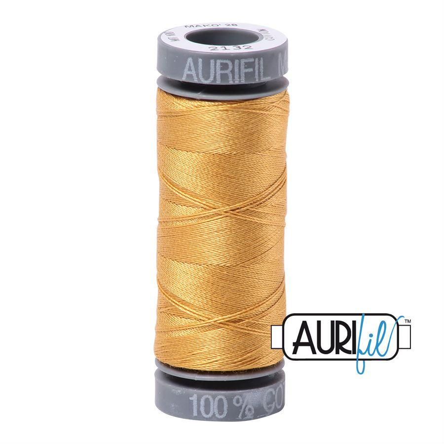 Aurifil Cotton 28wt, 2132 Tarnished Gold