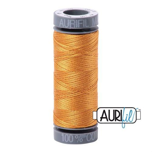 Aurifil Cotton 28wt, 2140 Orange Mustard