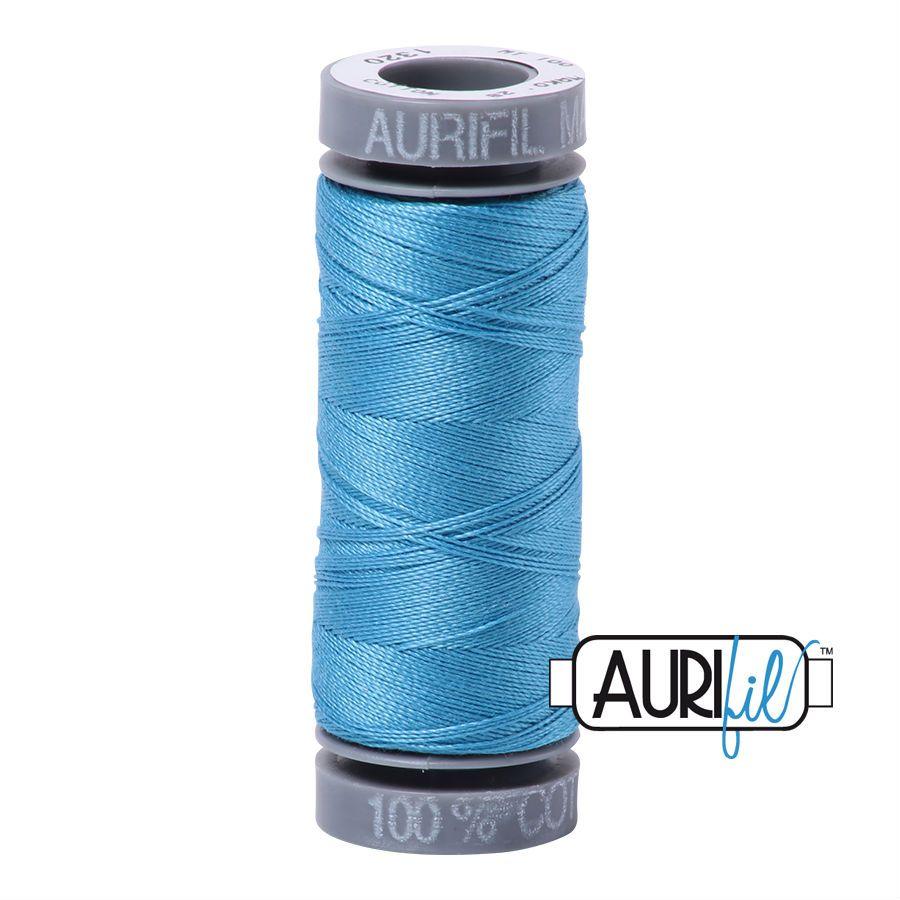 Aurifil Cotton 28wt, 1320 Bright Teal