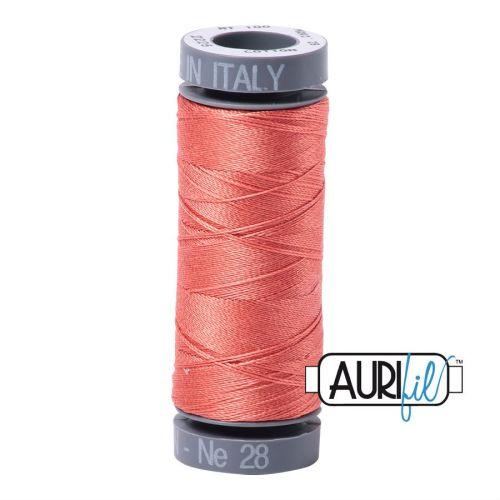 Aurifil Cotton 28wt, 2225 Salmon