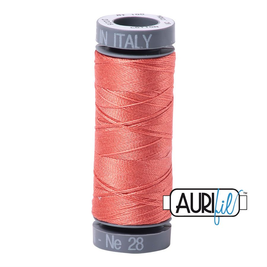 Aurifil Cotton 28wt, 2225 Salmon