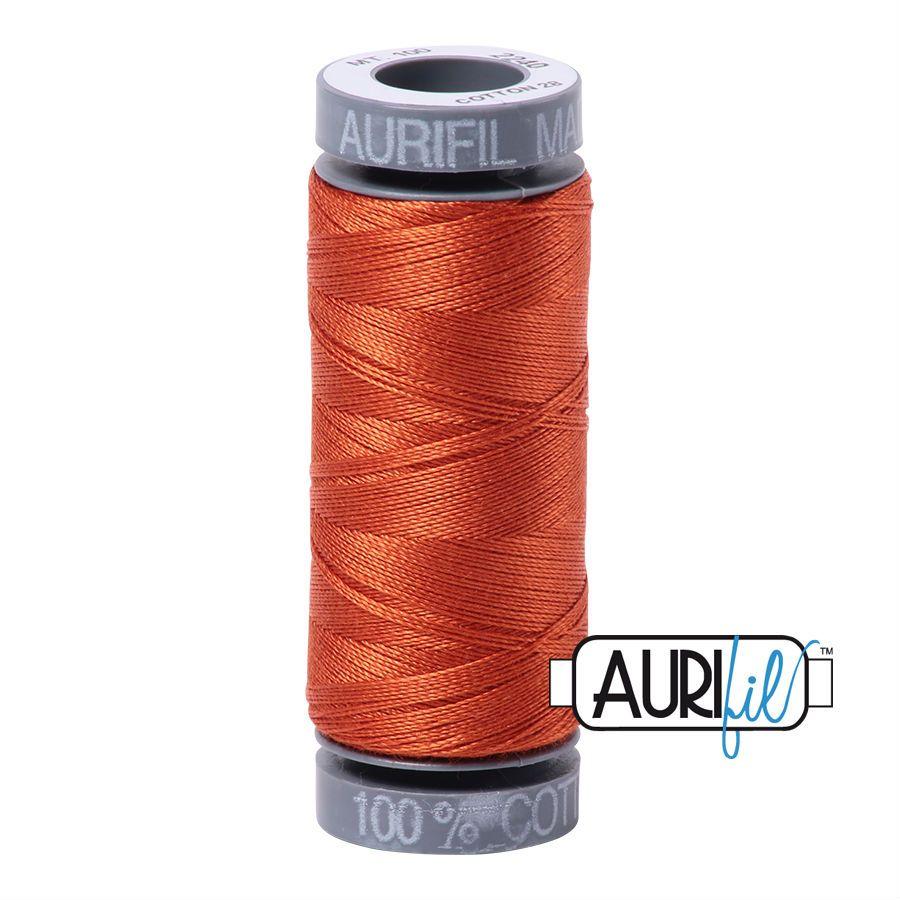 Aurifil Cotton 28wt, 2240 Rusty Orange