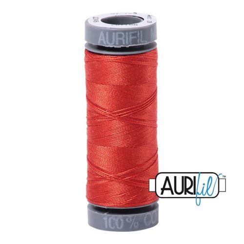 Aurifil Cotton 28wt, 2245 Red Orange