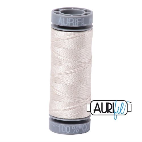 Aurifil Cotton 28wt, 2309 Silver White