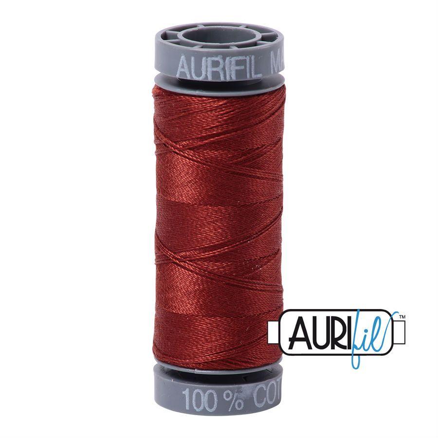 Aurifil Cotton 28wt, 2355 Rust