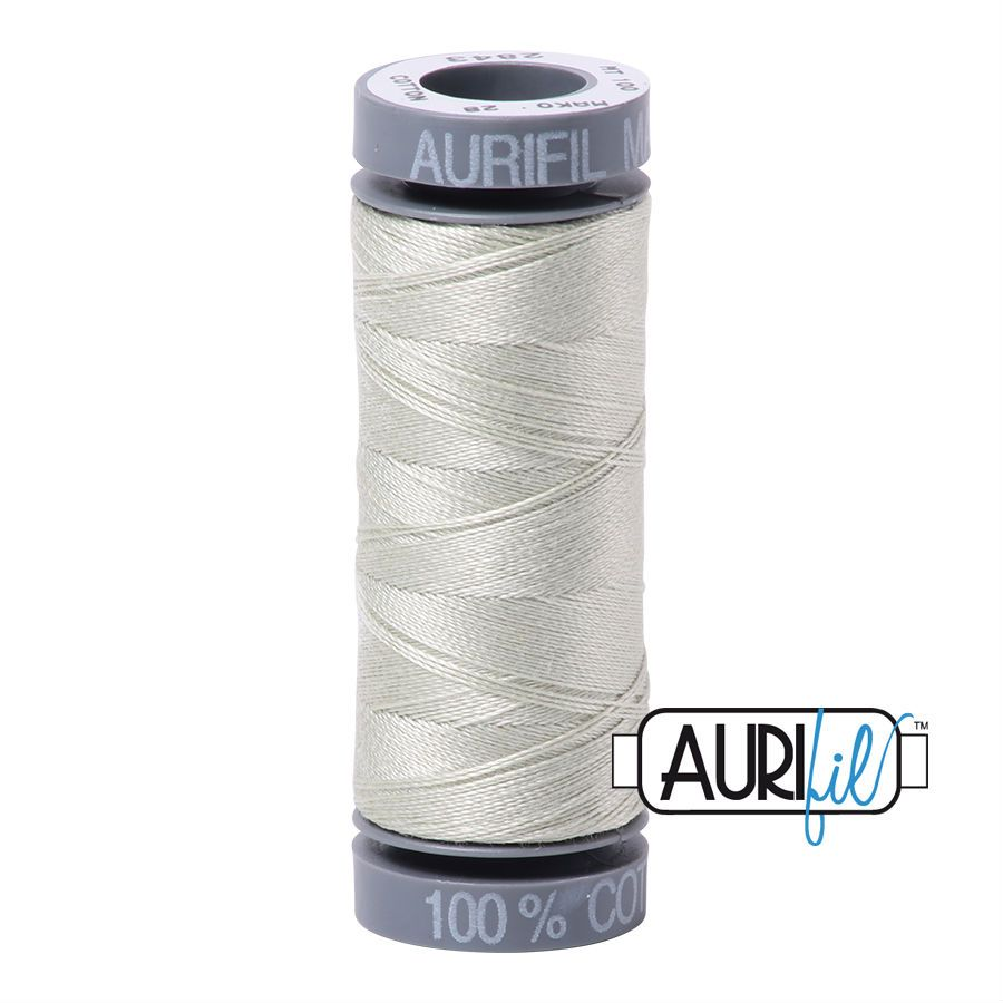 Aurifil Cotton 28wt, 2843 Light Grey Green