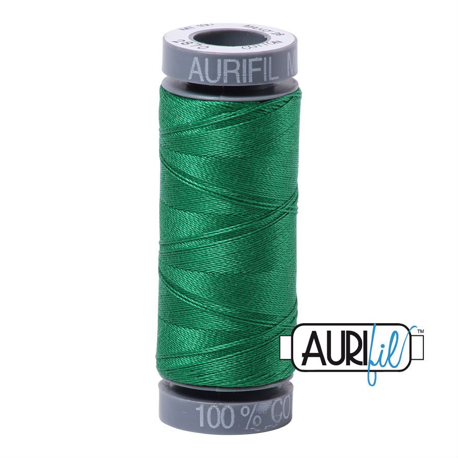 Aurifil Cotton 28wt, 2870 Green