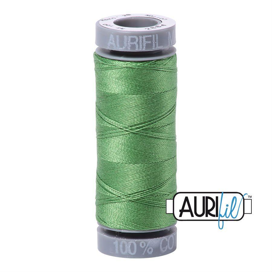 Aurifil Cotton 28wt, 2884 Green Yellow