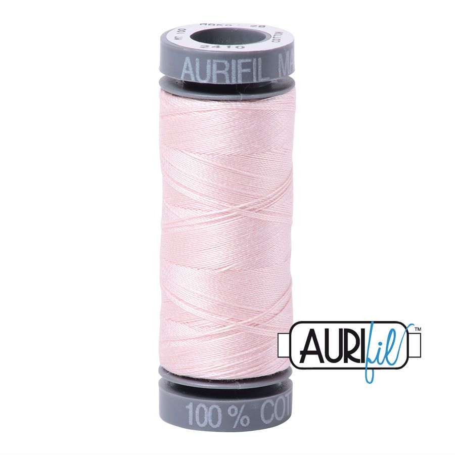 Aurifil Cotton 28wt, 2410 Pale Pink