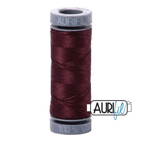 Aurifil Cotton 28wt, 2468 Dark Wine