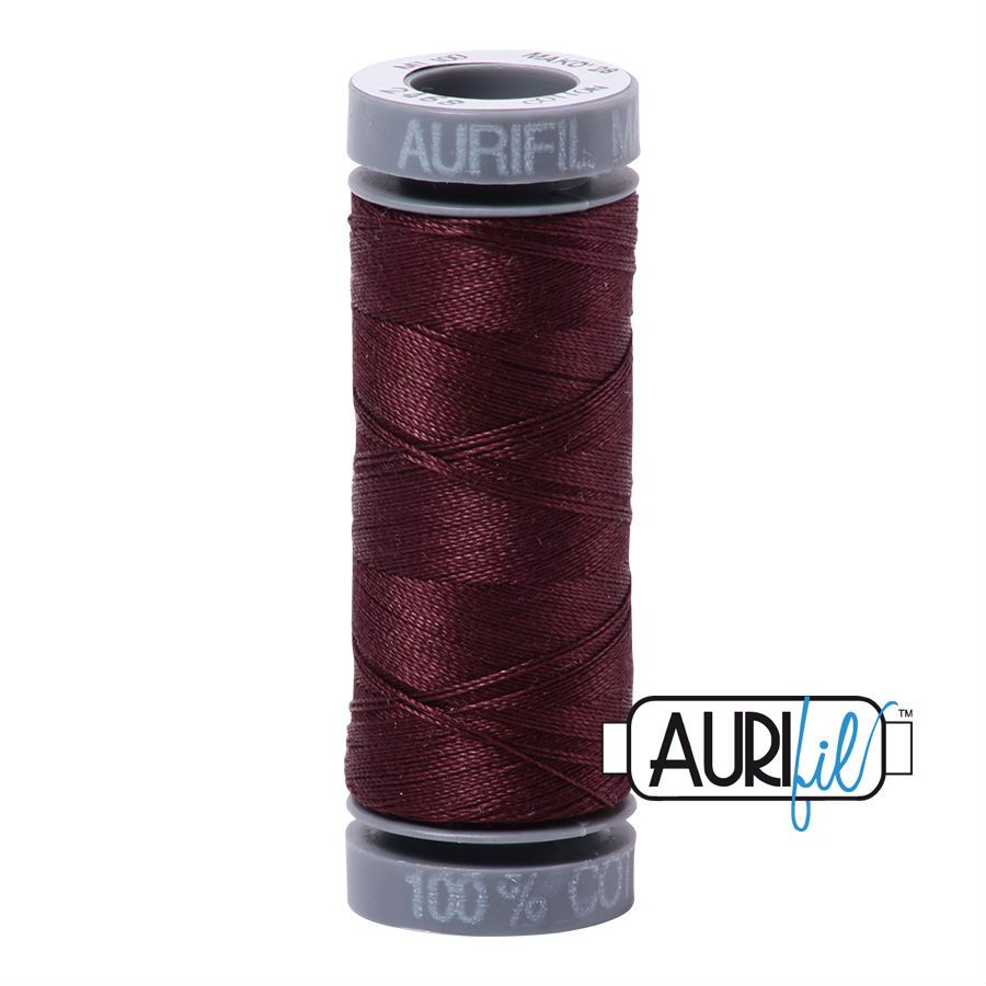 Aurifil Cotton 28wt, 2468 Dark Wine