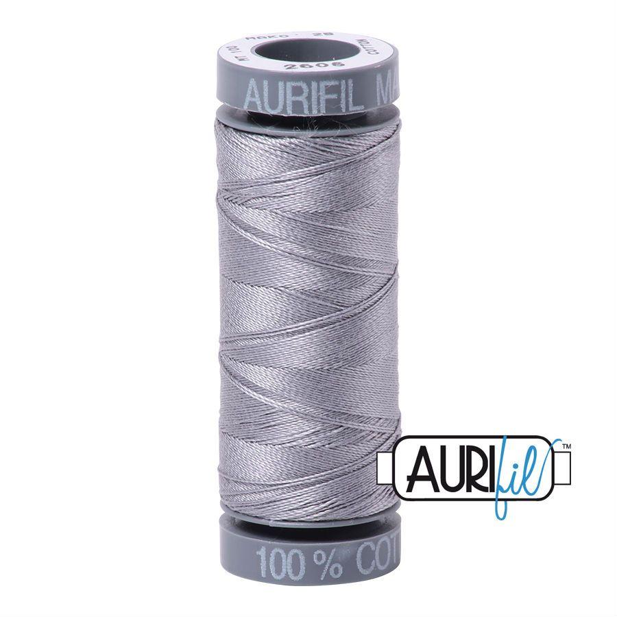Aurifil Cotton 28wt, 2605 Grey