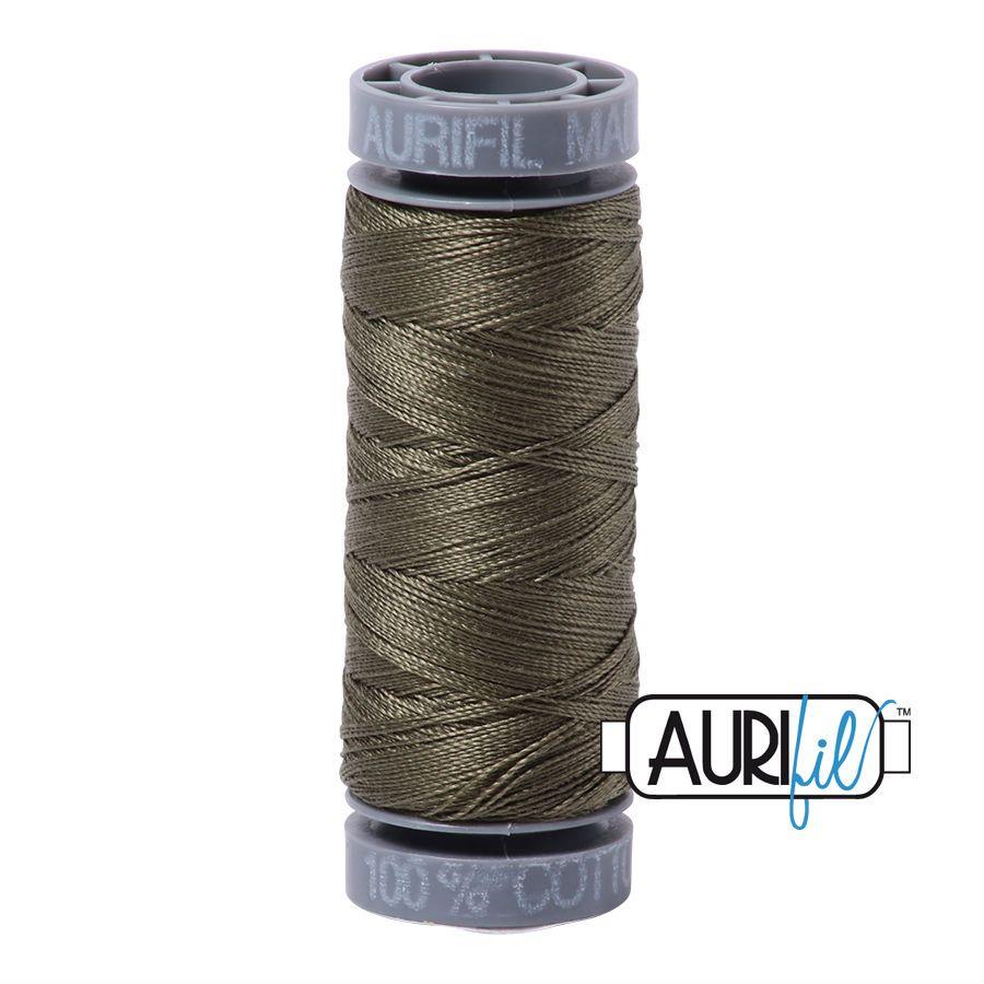 Aurifil Cotton 28wt, 2905 Army Green