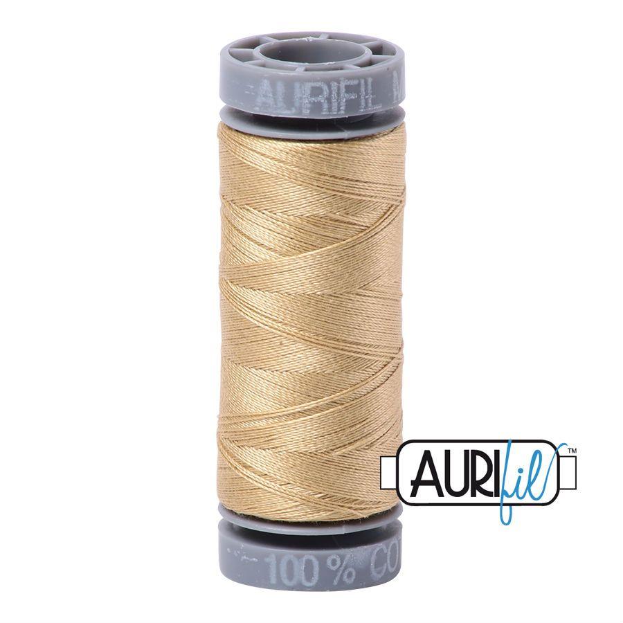 Aurifil Cotton 28wt, 2915 Very Light Brass