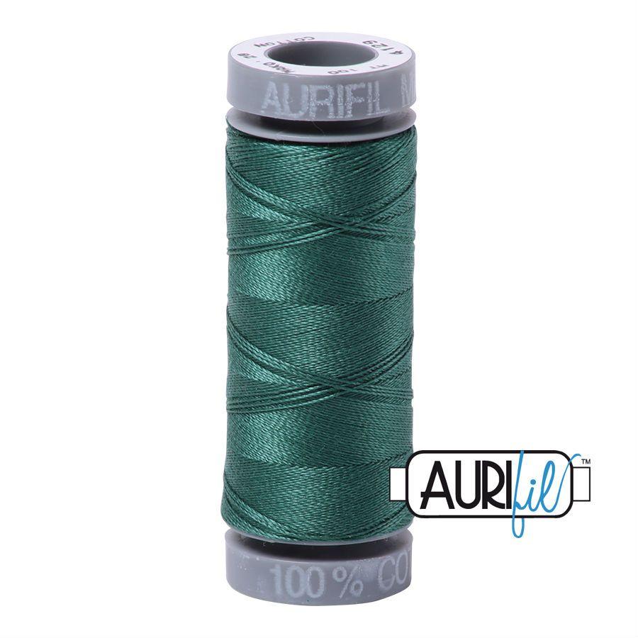 Aurifil Cotton 28wt, 4129 Turf Green