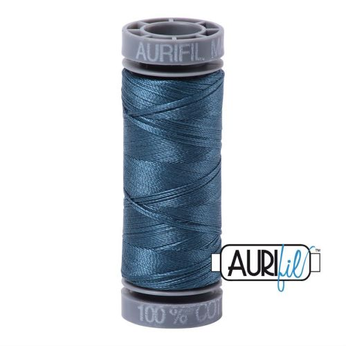 Aurifil Cotton 28wt, 4644 Smoke Blue