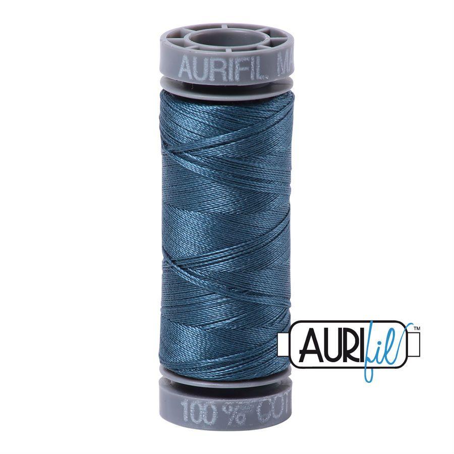 Aurifil Cotton 28wt, 4644 Smoke Blue