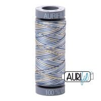 Aurifil Cotton 28wt, 4649 Lemon Blueberry
