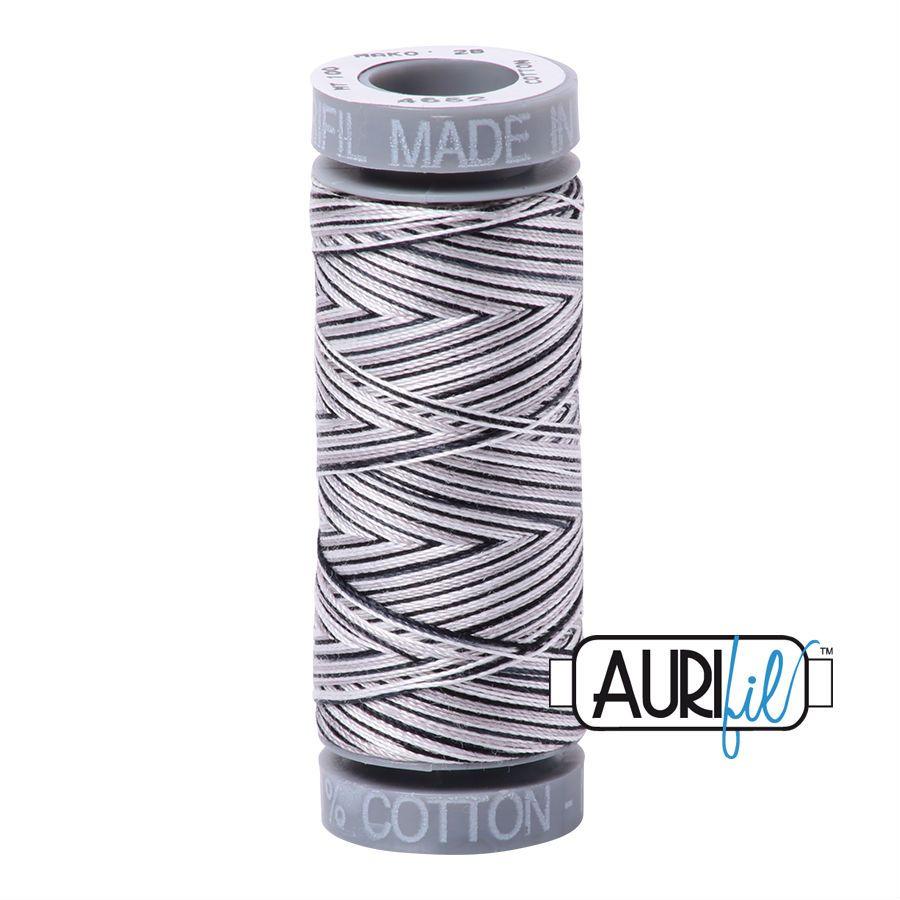 Aurifil Cotton 28wt, 4652 Licorice Twist