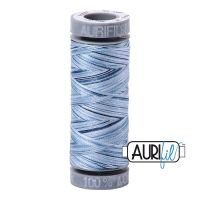 Aurifil Cotton 28wt, 4669 Stonewash Blues