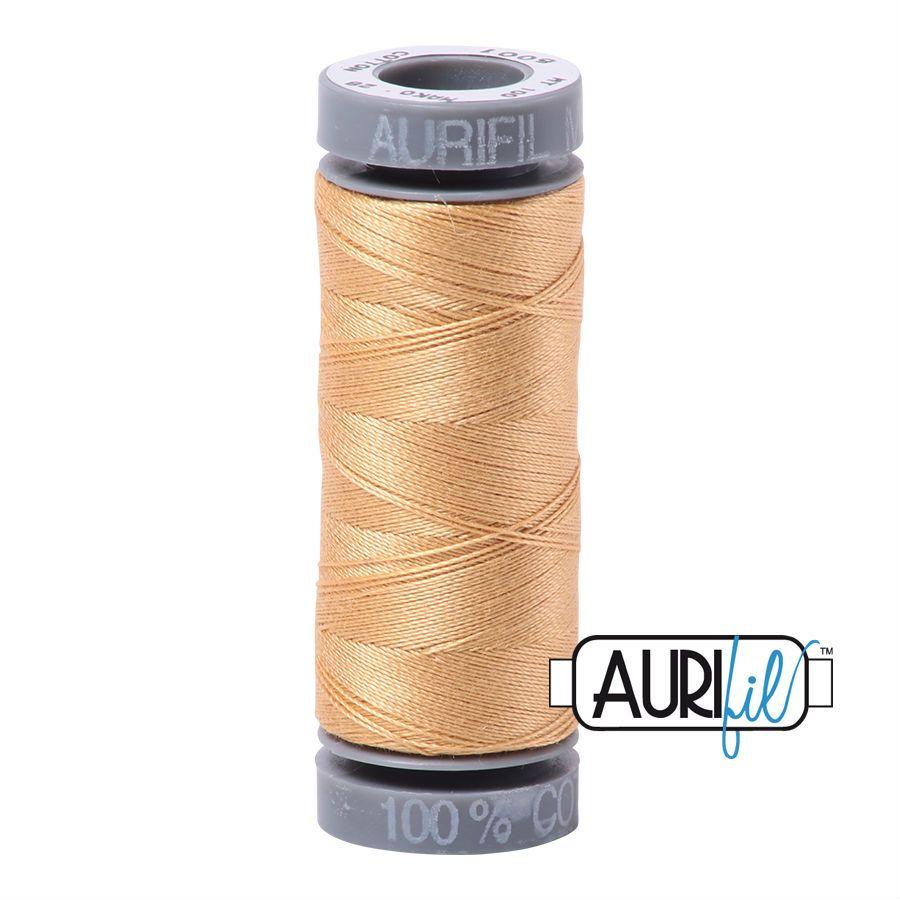 Aurifil Cotton 28wt, 5001 Ochre Yellow