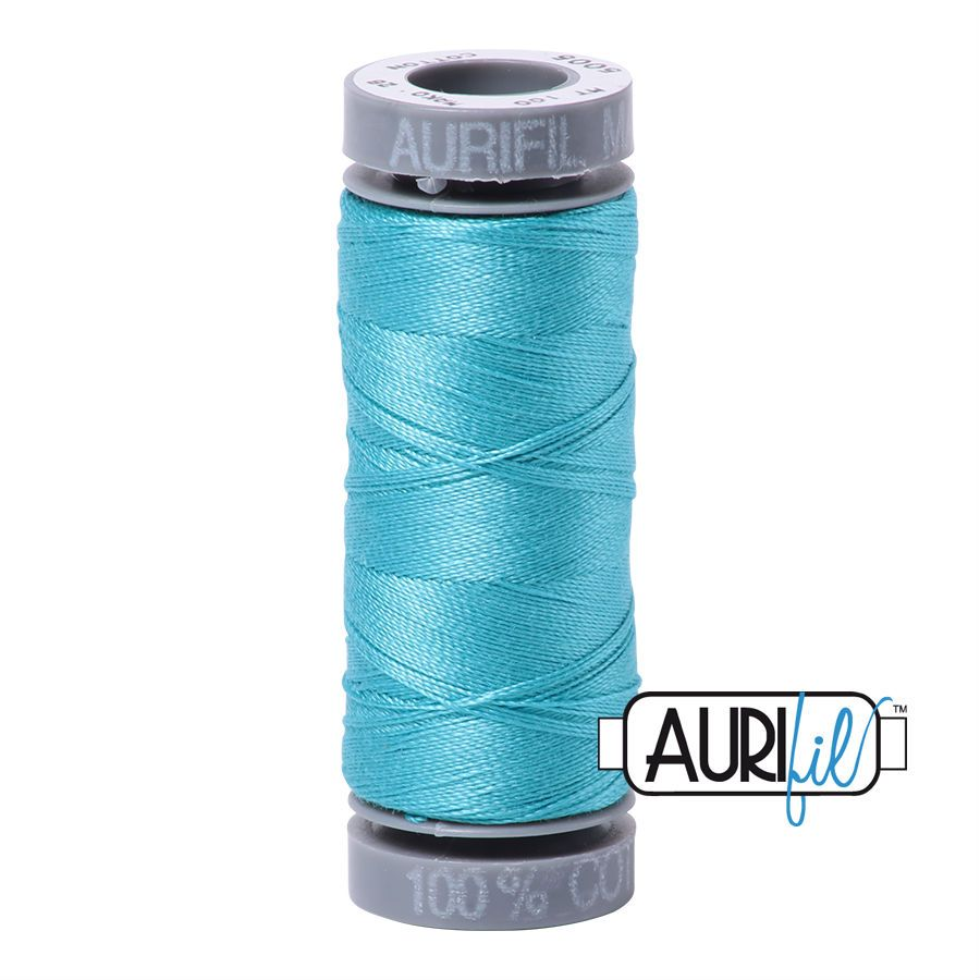Aurifil Cotton 28wt, 5005 Bright Turquoise