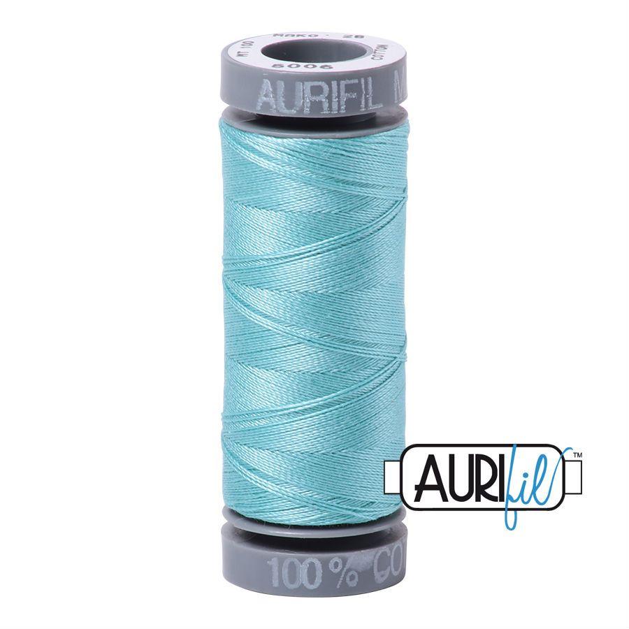 Aurifil Cotton 28wt, 5006 Light Turquoise