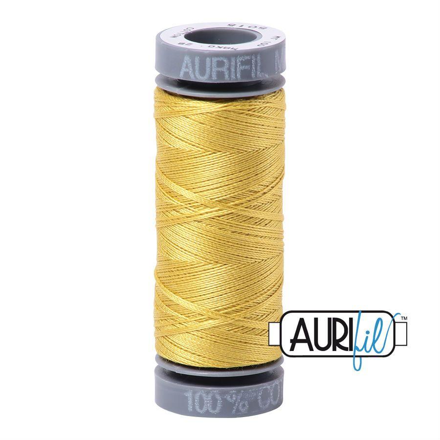 Aurifil Cotton 28wt, 5015 Gold Yellow