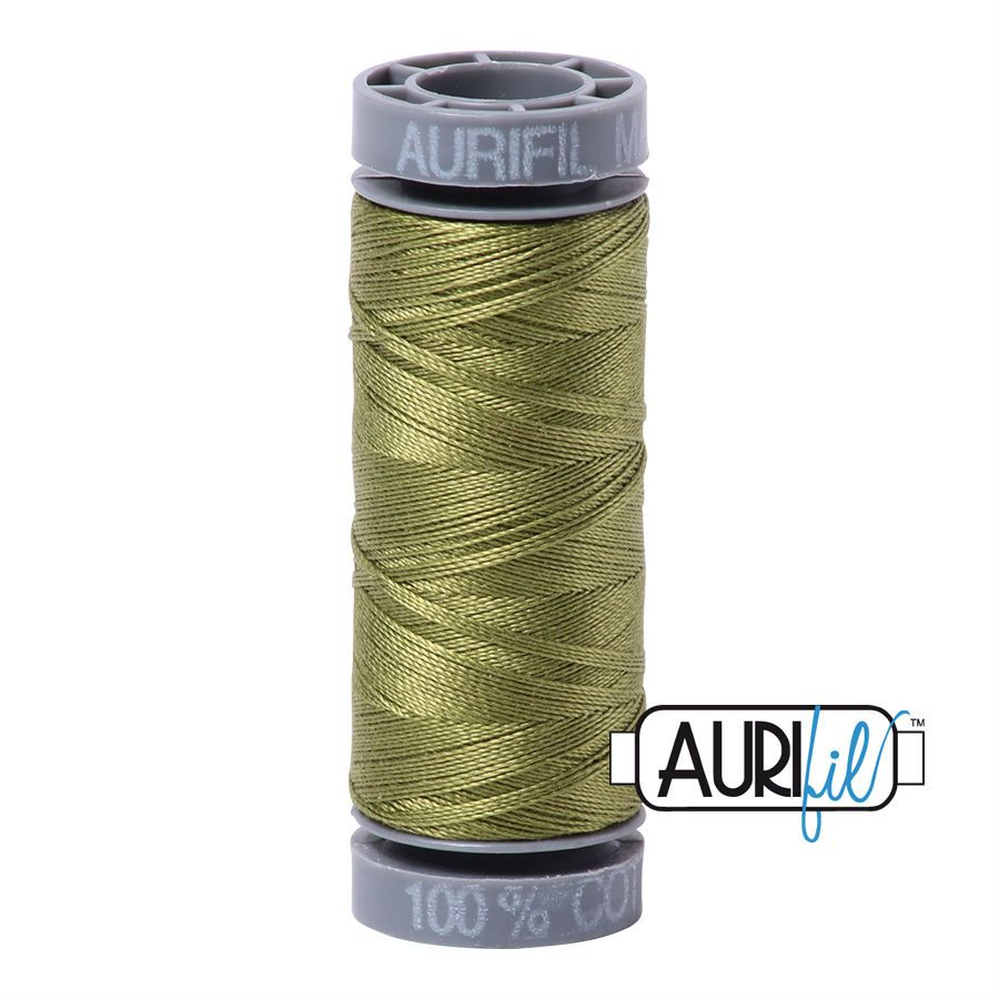 Aurifil Cotton 28wt, 5016 Olive Green