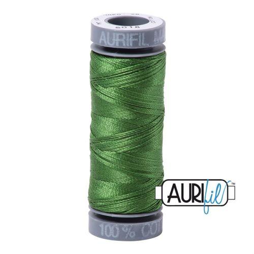 Aurifil Cotton 28wt, 5018 Dark Grass Green
