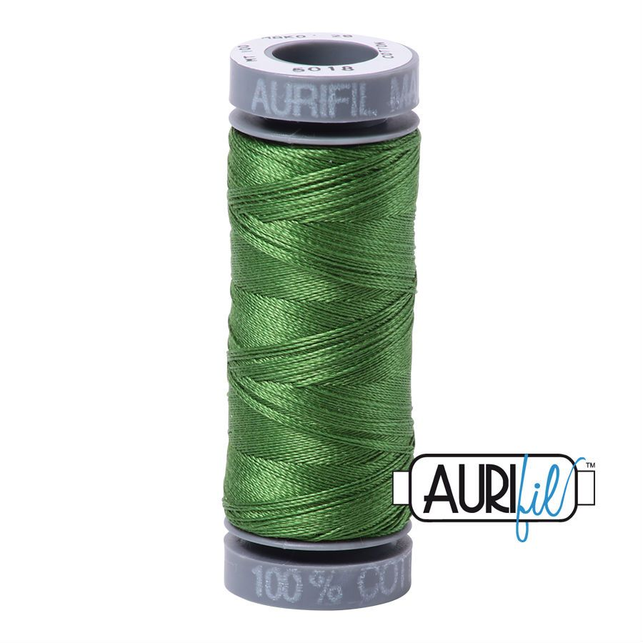 Aurifil Cotton 28wt, 5018 Dark Grass Green