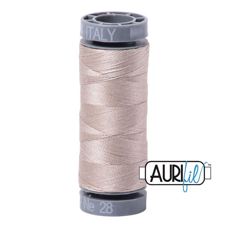 Aurifil Cotton 28wt, 6711 Pewter