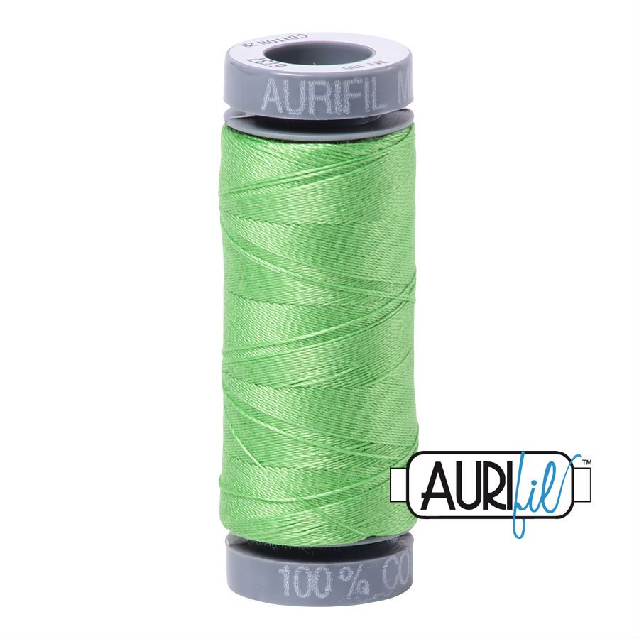 Aurifil Cotton 28wt, 6737 Shamrock Green