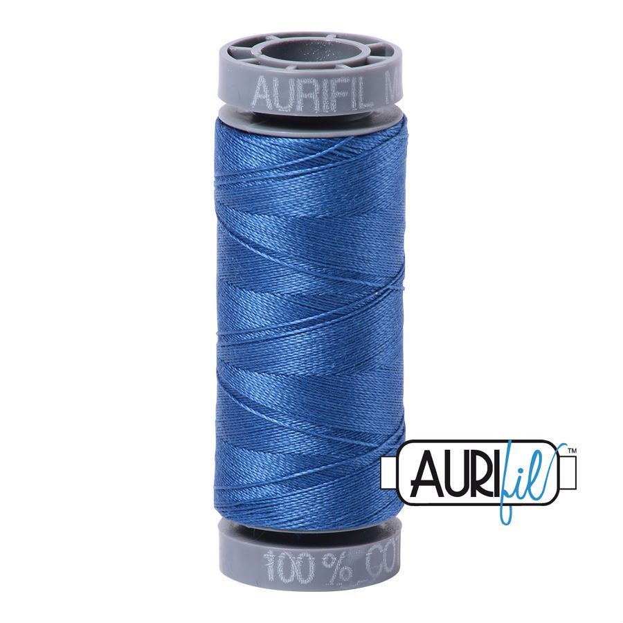 Aurifil Cotton 28wt, 6738 Peacock Blue