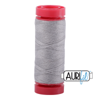 Aurifil Wool 12wt, Col. 8605 Light Grey