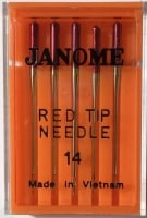 Janome Red Tip Needles - Size 90/14