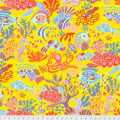 Kaffe Fassett Collective - Brandon Mably - Scuba - PWBM064-YELLOW