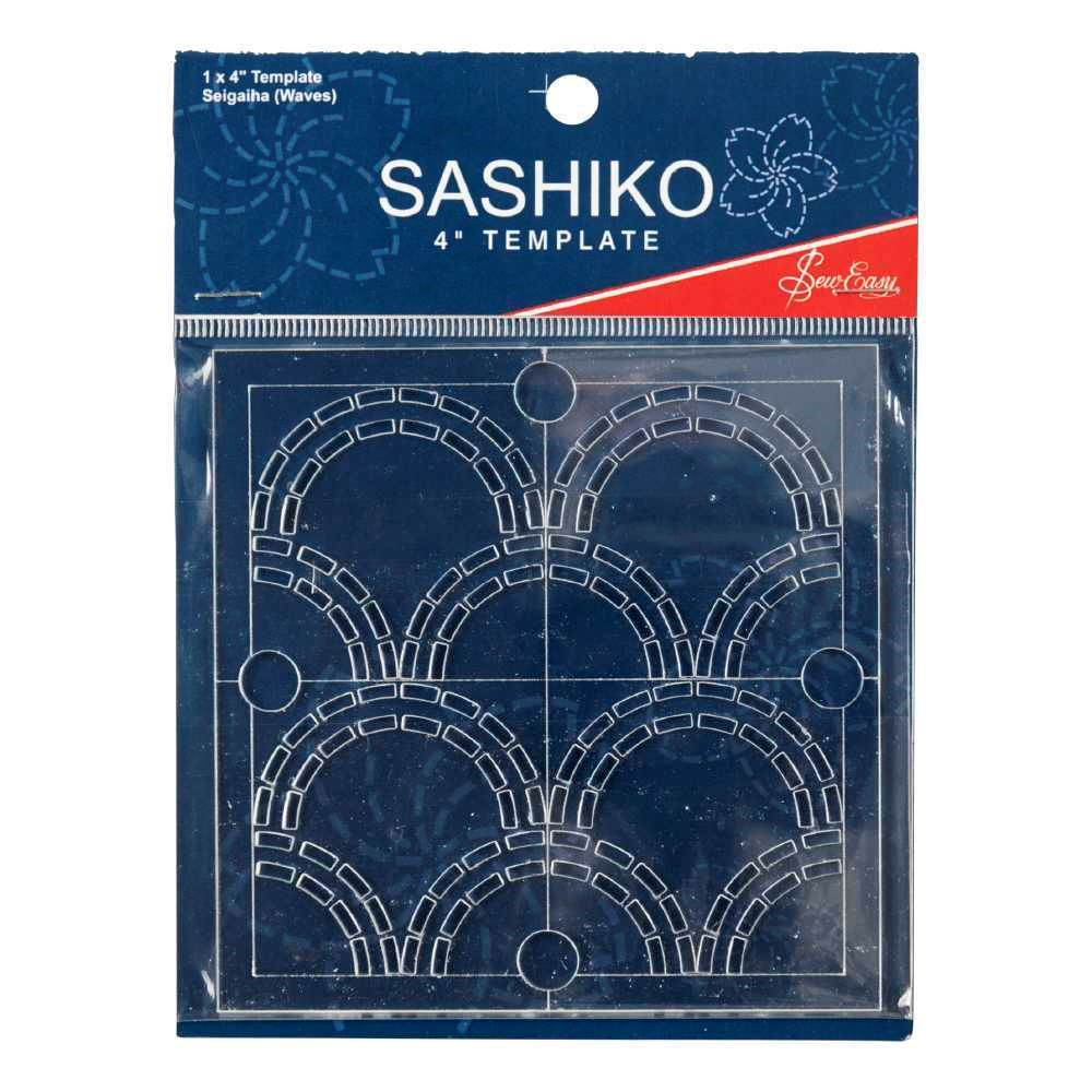 Sashiko Template - Seigaiha (Waves)