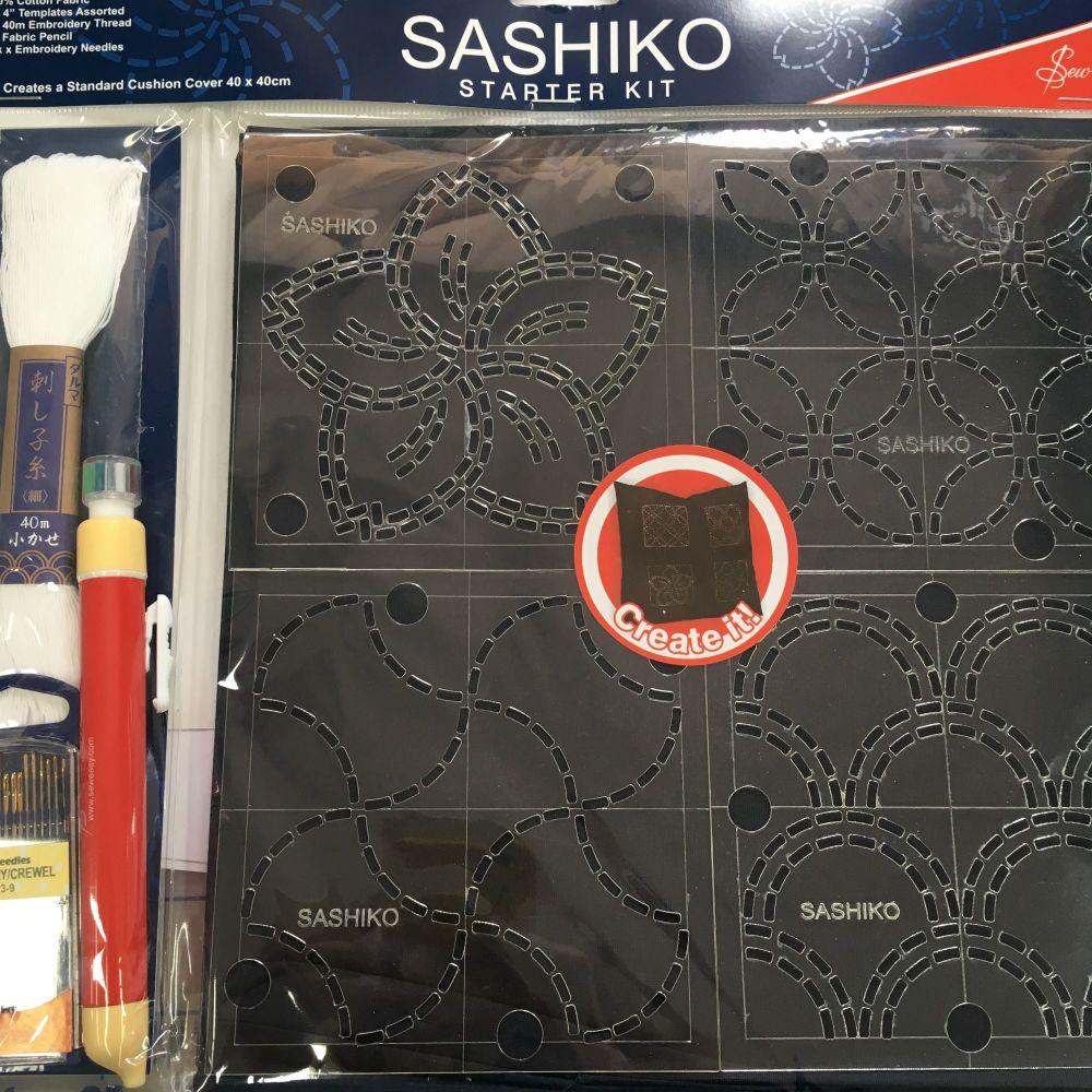 Sashiko 40 x 40cm Cushion Cover Starter Kit by Sew Easy