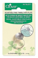 Clover - Adjustable Ring Thimble with Plate